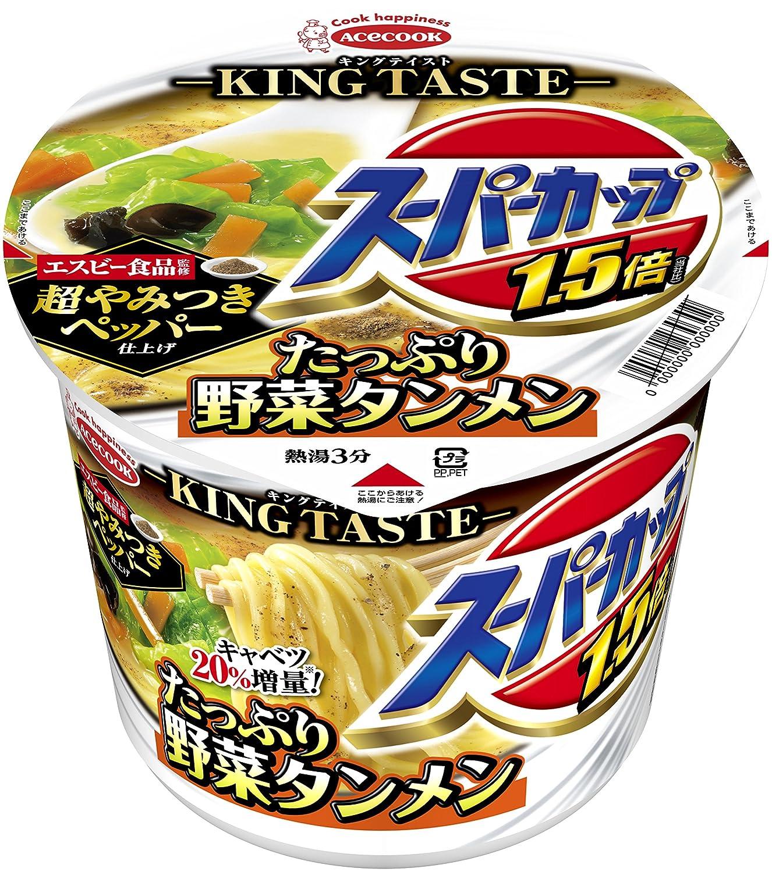 エースコック スーパーカップ1.5倍 たっぷり野菜タンメン 超やみつきペッパー仕上げ