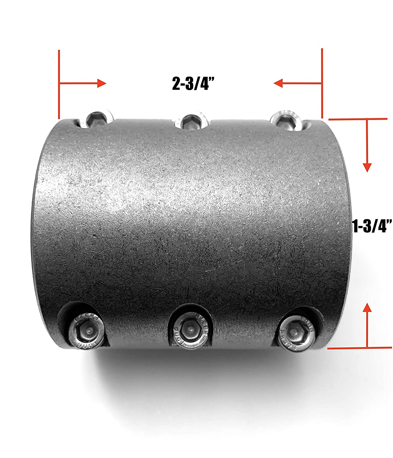 Universal Fabrication Connector Tube Clamp 1-3//4 2 Pack Long