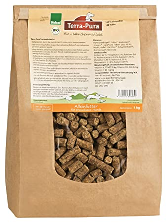 Terra Pura Organic Dry Dog Food Chicken Meal Pack Of 10 X 1000 G