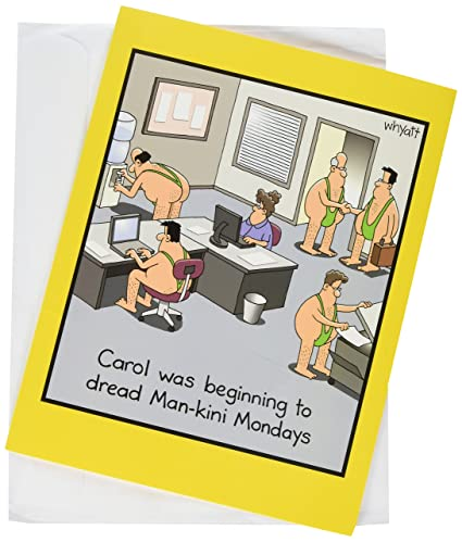 Jumbo Man Kini Birthday Hilarious 85 X 11 Inch Greeting Card With Envelope