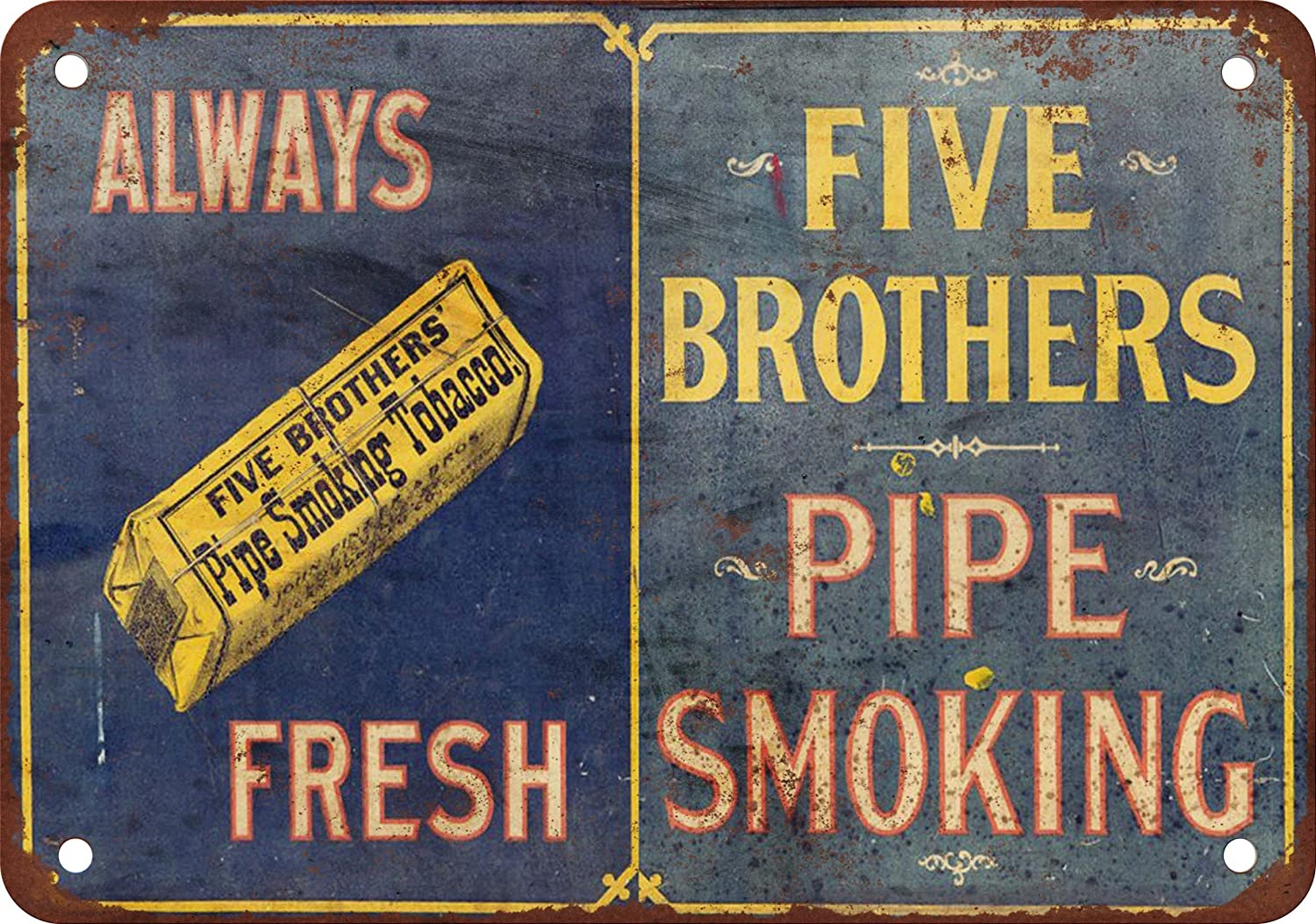 Amazon Com  Metal Sign Five Brothers Pipe Tobacco Vintage Look Reproduction 2 Home Kitchen