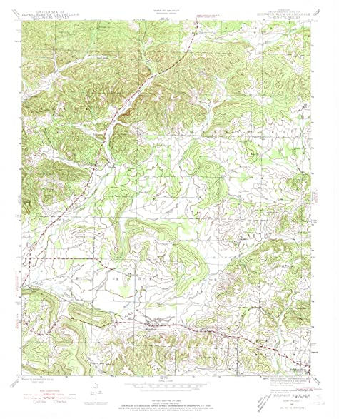 Amazon.com: Arkansas Maps | 1943 Sulphur Rock, AR USGS Historical ...