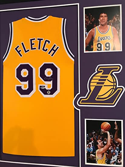 4a25f9742 Chevy Chase Autographed FLETCH Custom Framed Los Angeles Lakers Jersey  Beckett Witnessed COA at Amazon s Sports Collectibles Store