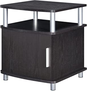 Altra Furniture Ameriwood Home Carson End Table With Storage, Espresso