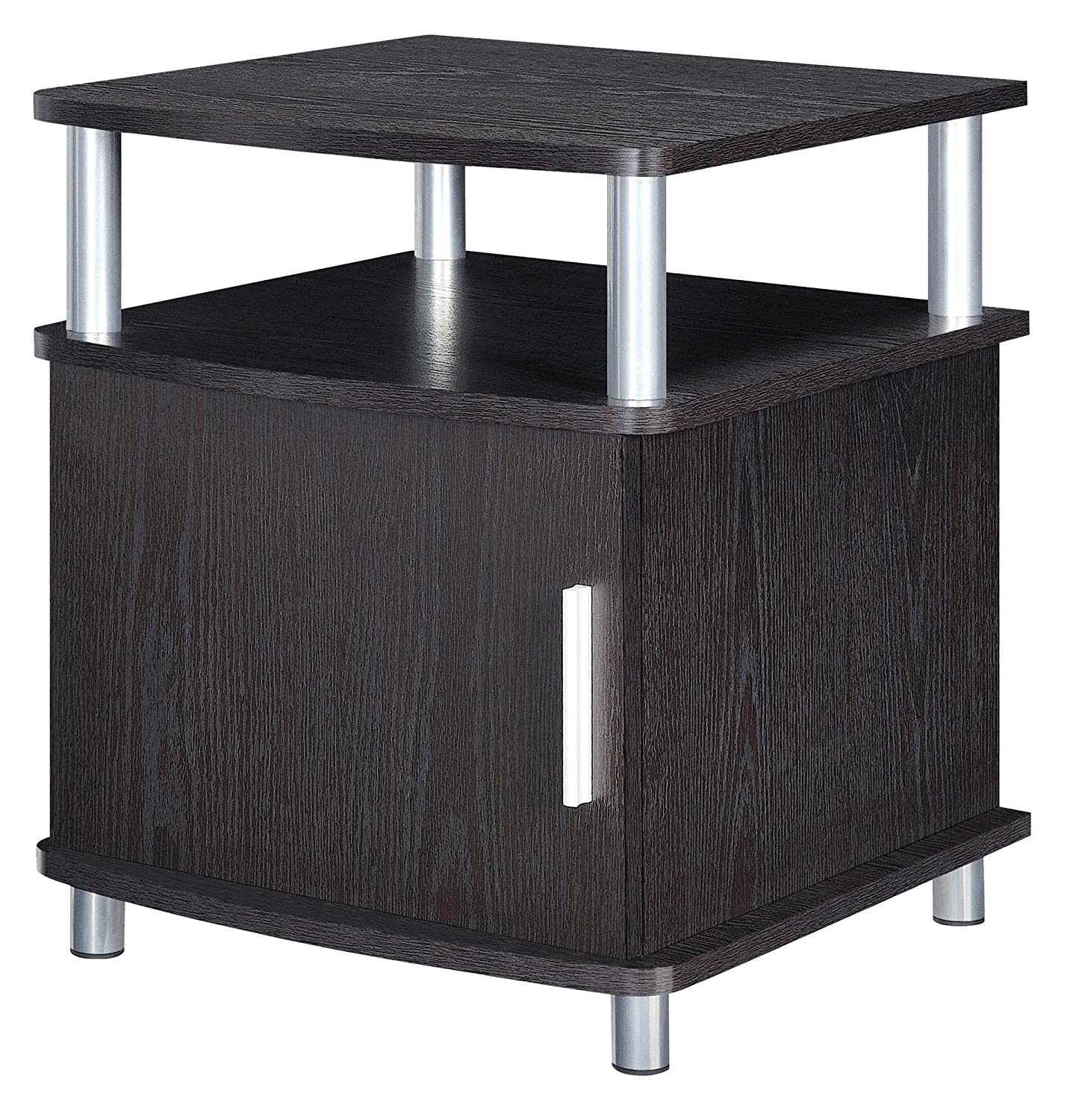 Ameriwood Home Carson End Table with Storage, Cherry/Black Dorel Home Furnishings 5083196