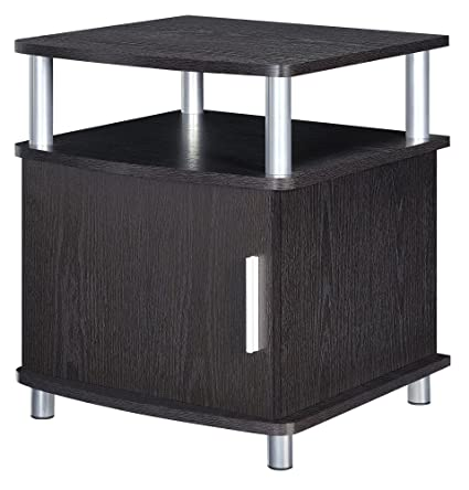 Attrayant Altra Carson End Table With Storage, Espresso/Silver