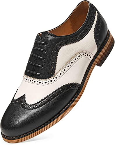 Amazon.com | GIFENNSE Women's Oxfords Hand-Made Multi Color Wingtip Derby  Lace-up Leather Dress Formal Shoes for Ladies Girls | Oxfords