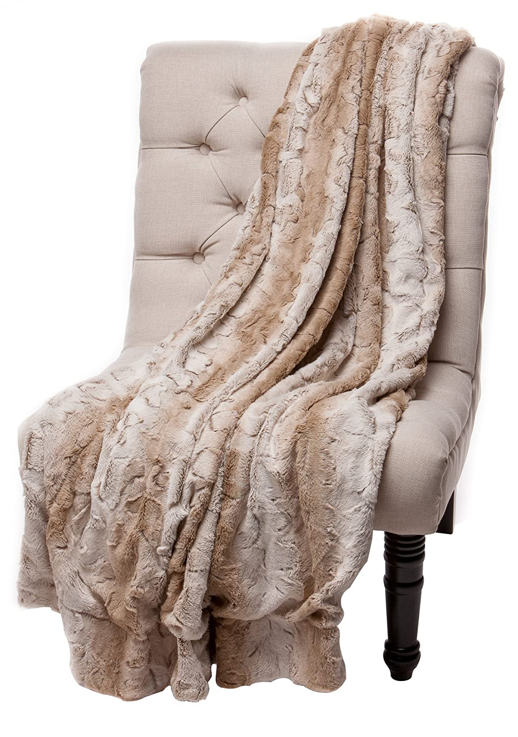 Chanasya Super Soft  Fuzzy Fur Warm Throw Blanket