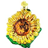 Old World Christmas Garden Sunflower Glass Blown Ornament