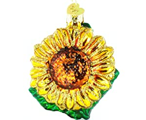Old World Christmas Sunflower Garden Gifts Glass Blown Ornaments for Christmas Tree,Sunglower