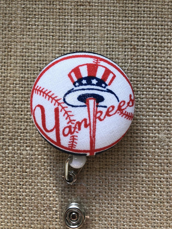 Your Choice Badge Reel Clip Yankees Baseball Retractable ID Badge Holder