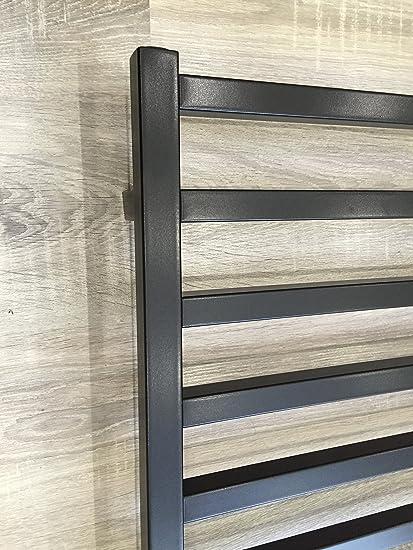 Diseño baño Radiador GLORYA Negro 1700 x 500 mm. calentador toallas