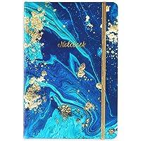 Fodrad anteckningsbok/journal – inbunden linjerad anteckningsbok med premium tjockt papper, collegebok A5 linjerad…
