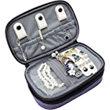 ProCase Jewelry Case Travel Organizer Bag, Soft Padded Double Layer Jewelry Carrying Pouch Portable Jewelry Storage…
