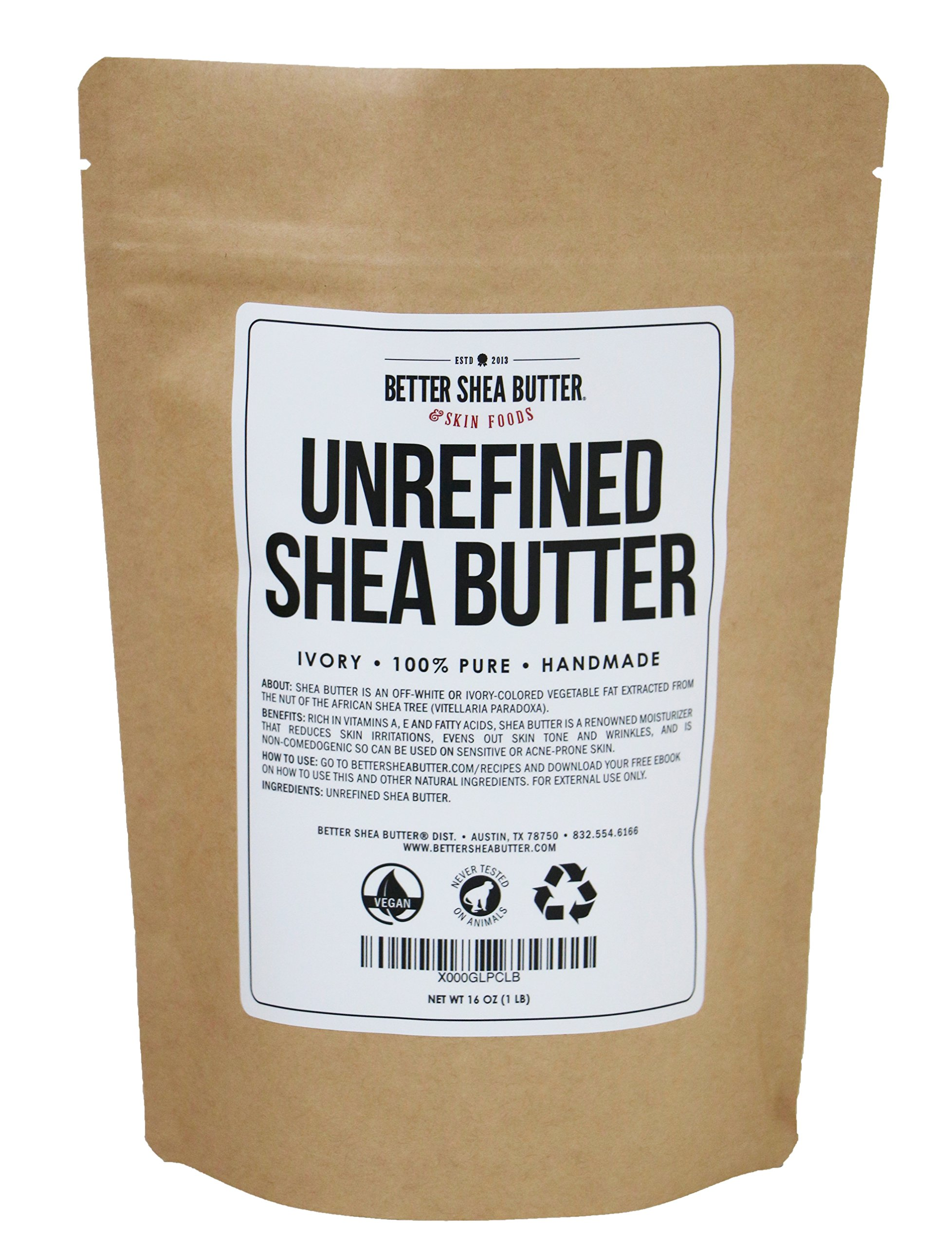 Unrefined Shea Butter by Better Shea Butter - Ivory - 1 lb by Better Shea Butter (Image #2)