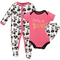 Luvable Friends Baby Sleeper, Bodysuit and Bandana Bib Set