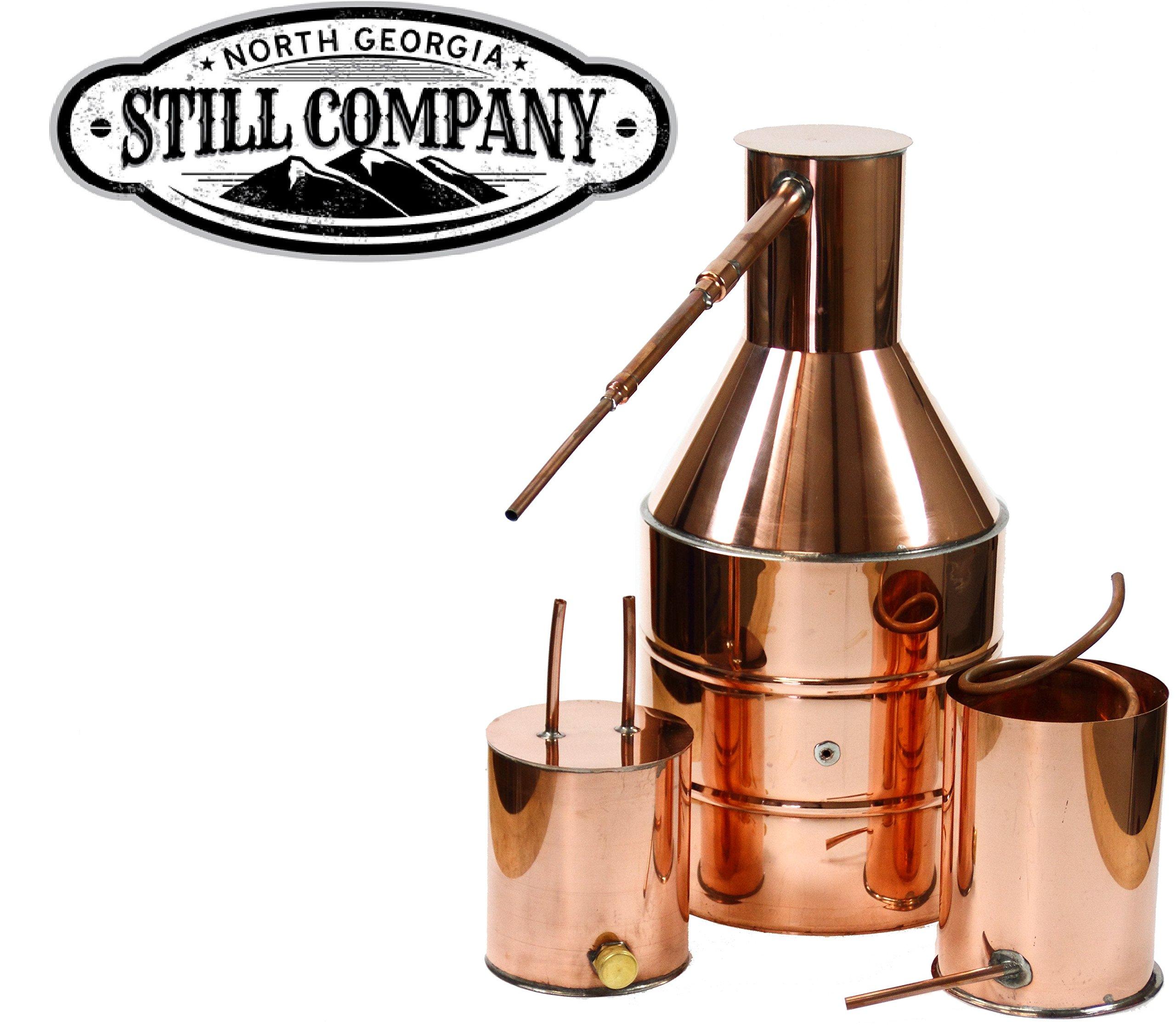 5 Gallon Copper Moonshine Still with Worm & Thumper by North Georgia Still Company