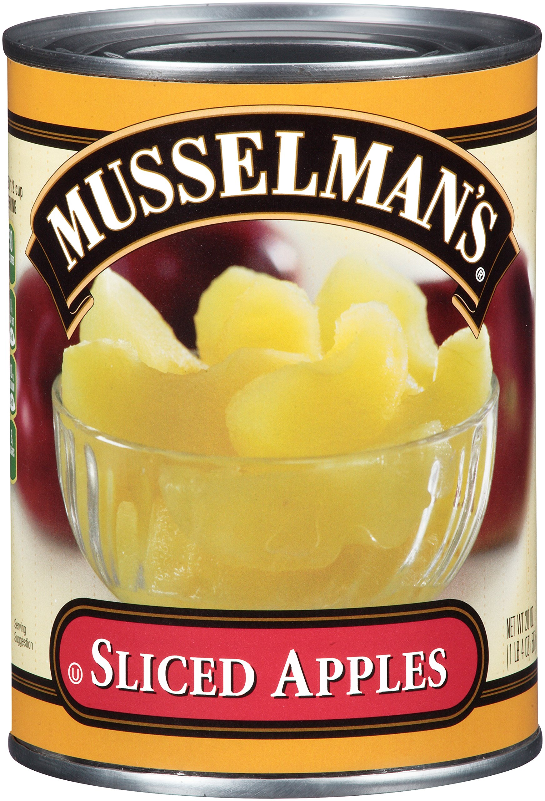 Musselmans Sliced Apple in Water, 20 Ounce (Pack of 12) by Musselmans