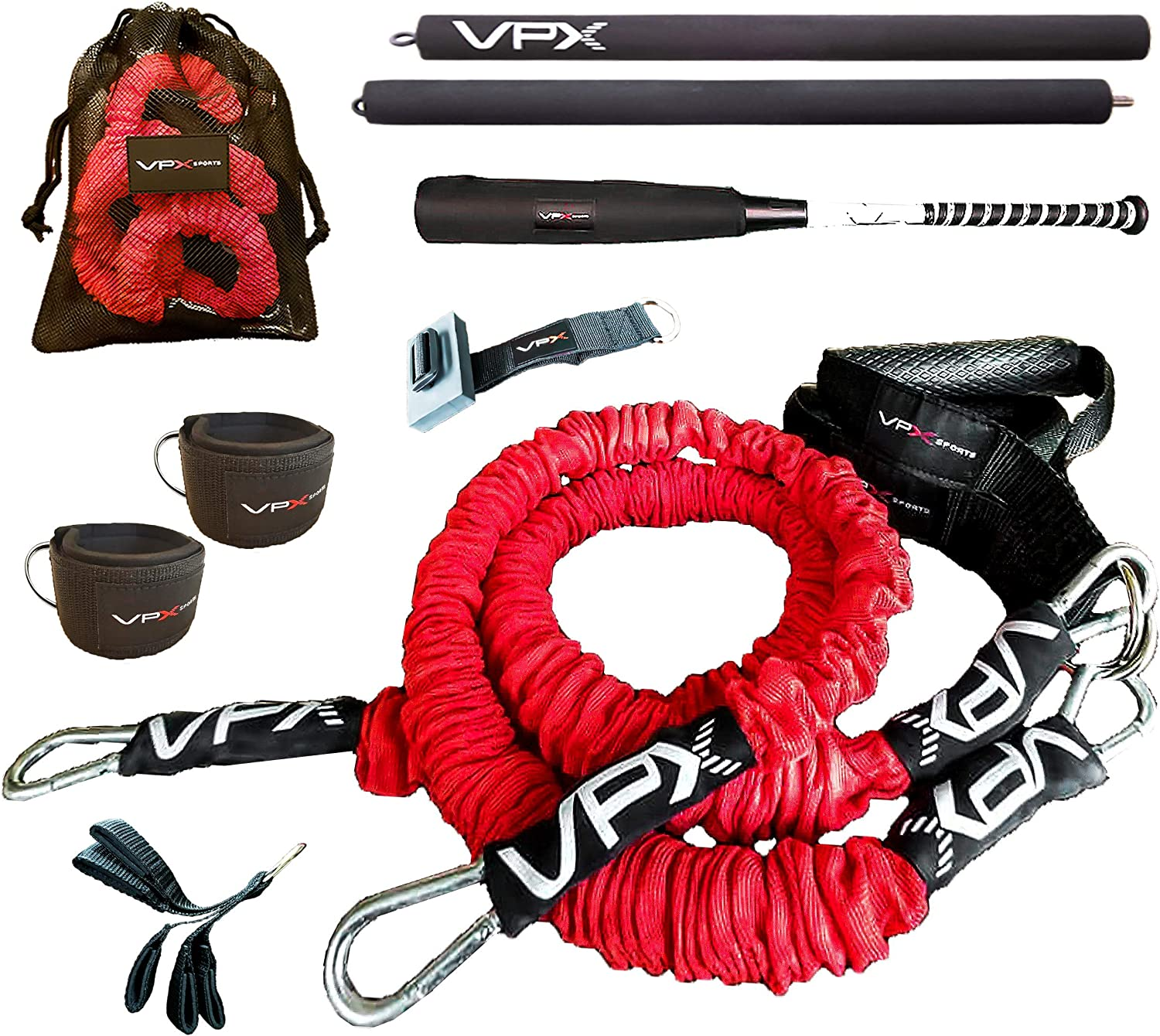 VPX Resistance Bands Set | 3-way Customized Total Body Workout System | Tutorials & Program | Strength, Home Gym, Arm care, Baseball, Softball, Fitness, Volleyball, Quarterbacks, Yoga, Pilates