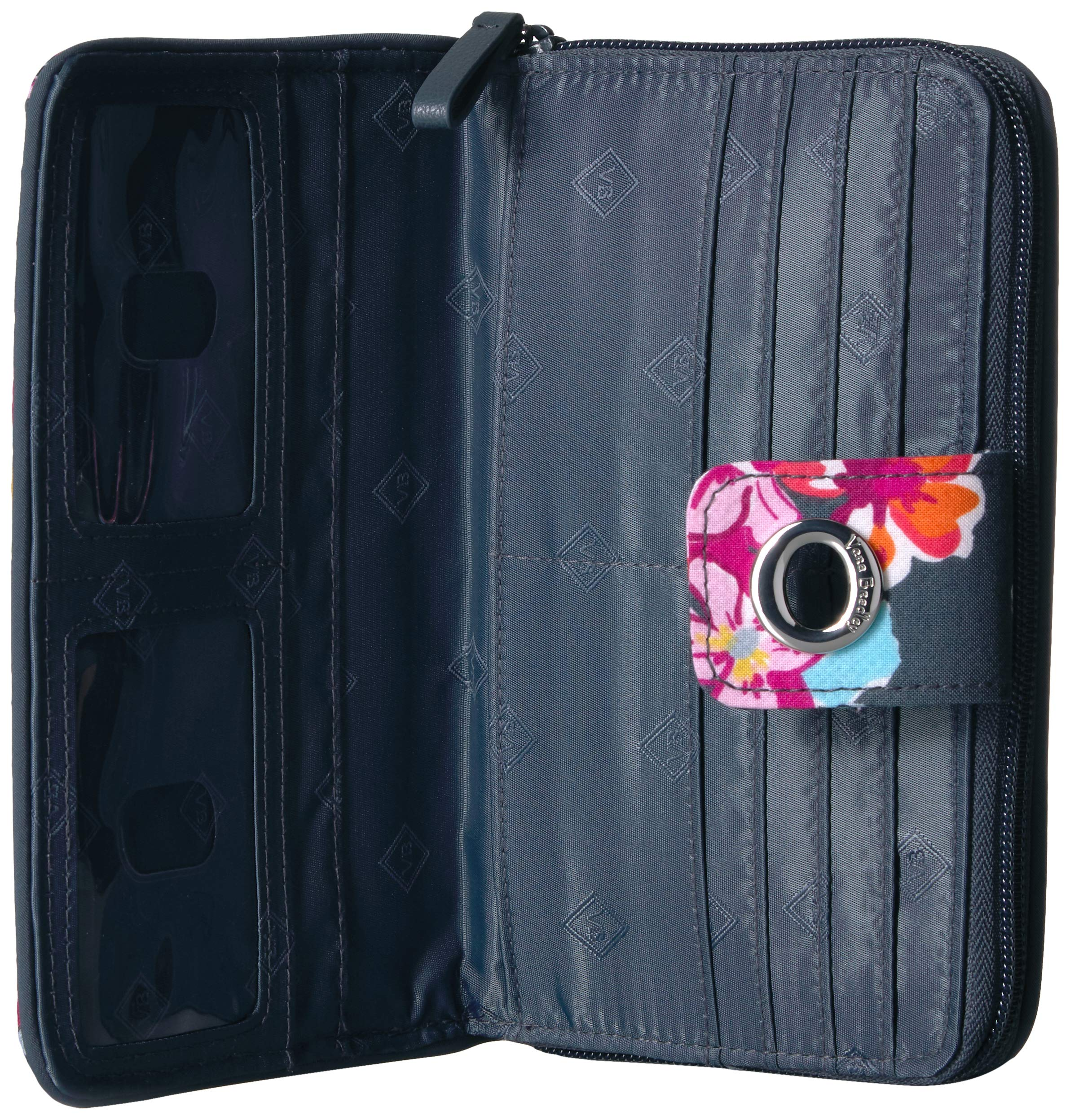 Vera Bradley Iconic RFID Turnlock Wallet, Signature Cotton, pretty Posies by Vera Bradley (Image #4)