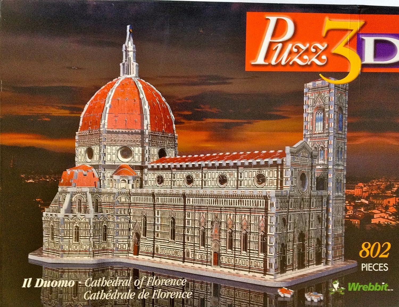 本格仕様の立体模型★フィレンツェ ドゥオーモ聖堂 B001OA3O5S 3Dジグソーパズル(802ピース)  Wrebbit社【並行輸入】 B001OA3O5S, プログレスアイエヌジー:8078c373 --- m2cweb.com
