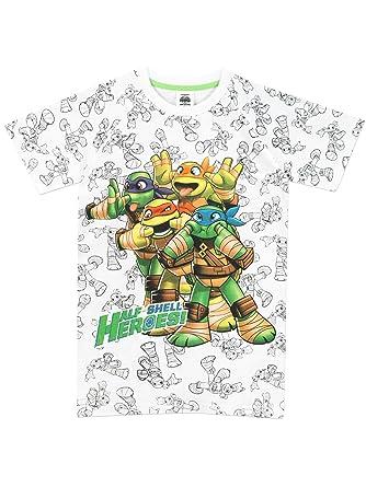Teenage Mutant Ninja Turtles - Camiseta para niño - Las Tortugas Ninja - 9 - 10 Años