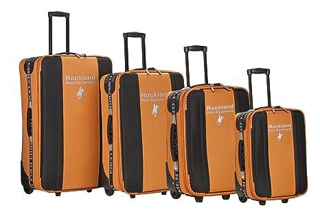Rockland - Juego de Maletas Adulto Unisex, Naranja (Naranja) - F50-ORANGE