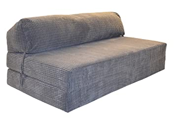Gilda JAZZ SOFABED   DA VINCI CORD Deluxe Double Sofa Z Bed Chair (Charcoal)