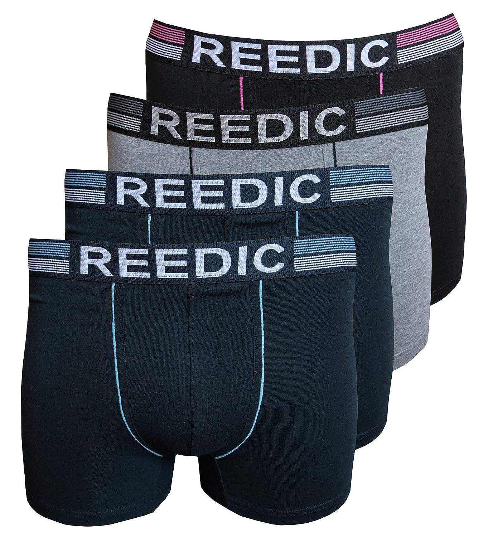 Reedic Uomo Boxer Shorts, Cotone, Confezione da RC-BO-A047