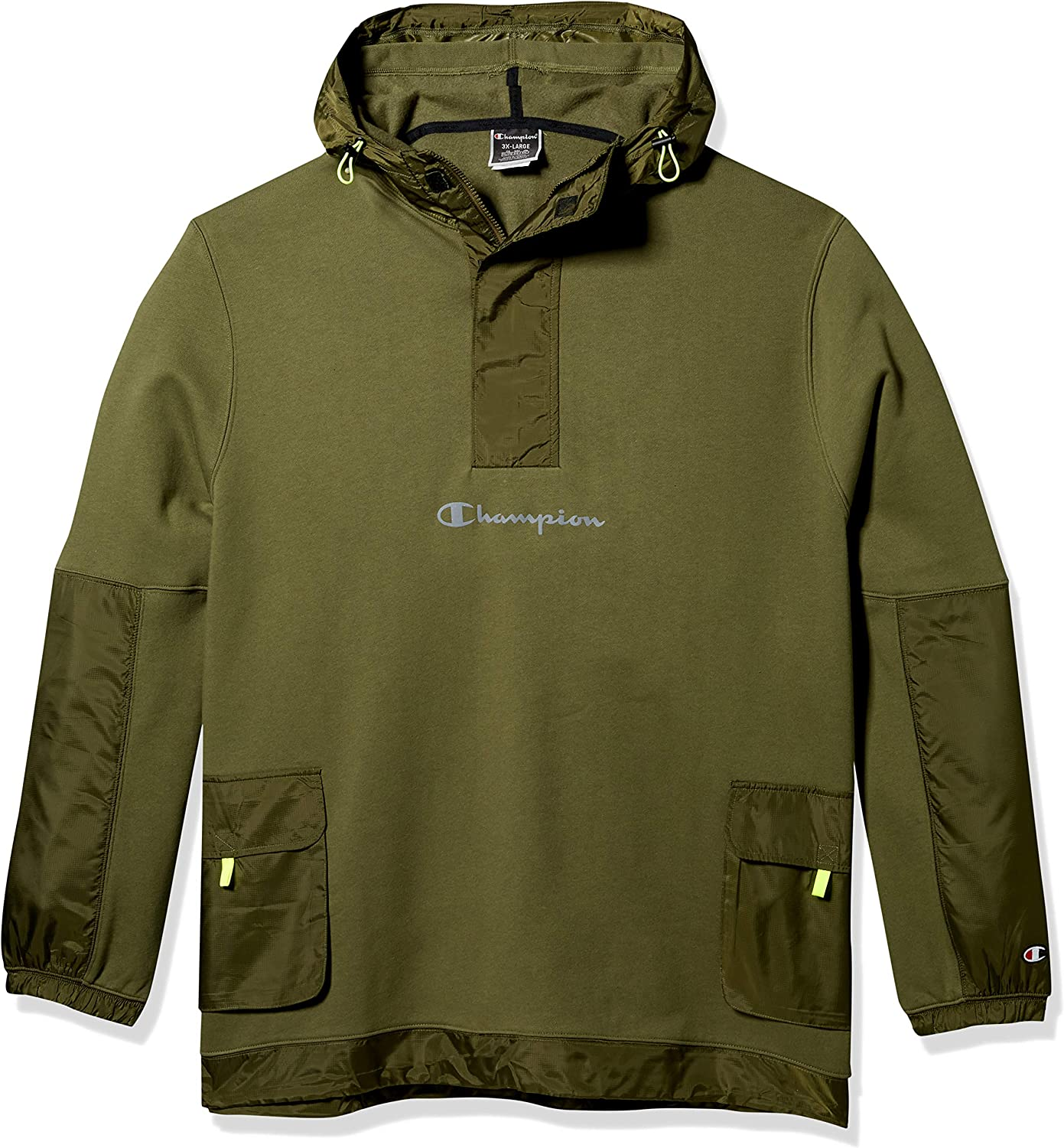 Champion LIFE Men's Sideline Quarter Zip Pullover with Woven