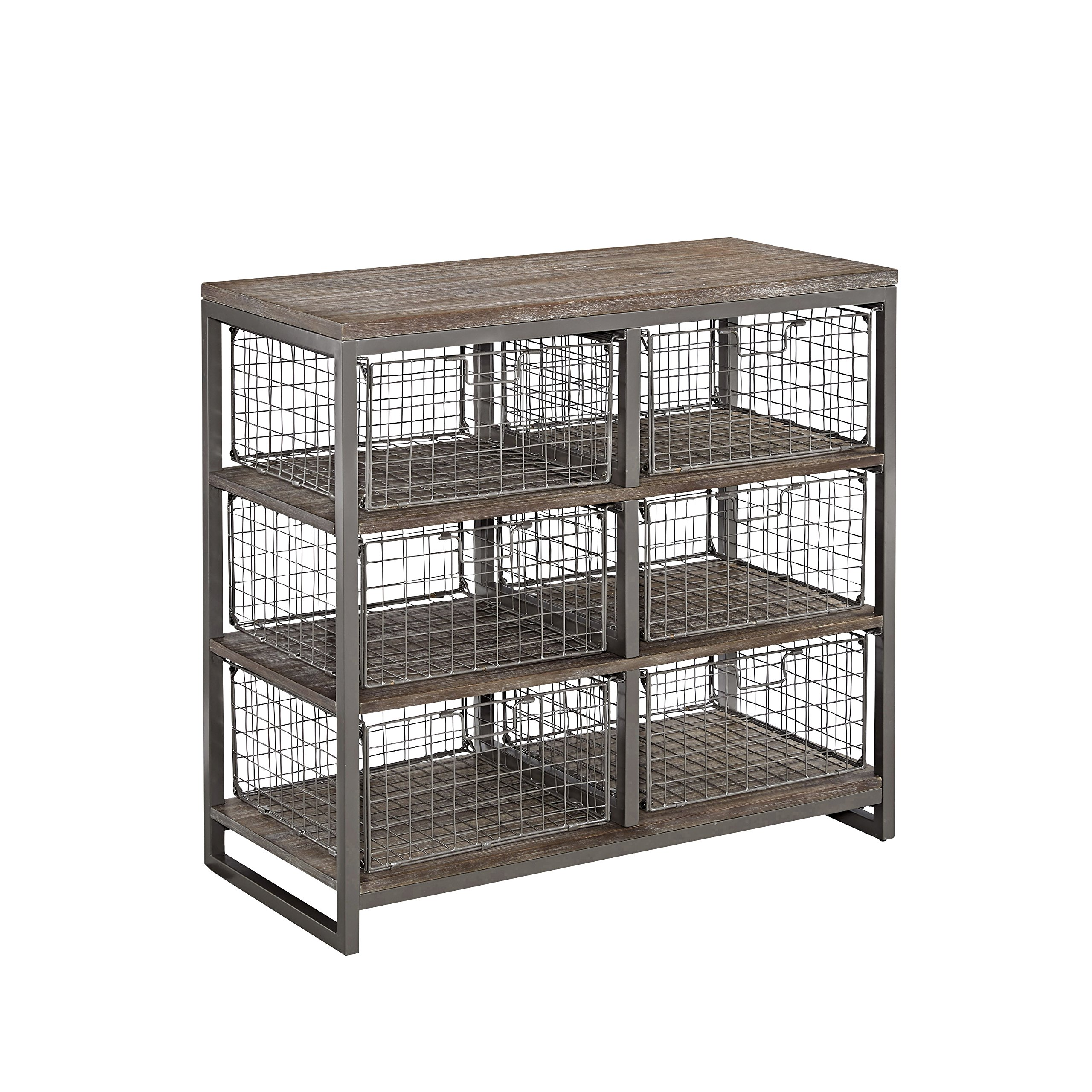 Barnside Metro Gray 6 Bin Storage Chest by Home Styles by Home Styles