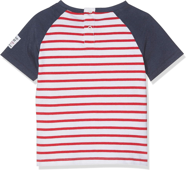 SALT AND PEPPER Baby-Jungen B Pirat Stripe Krake T-Shirt