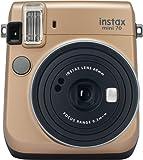 Fujifilm Instax Mini 70 Stardust Gold Fotocamera Istantanea per Stampe Formato 62x46 mm, Oro