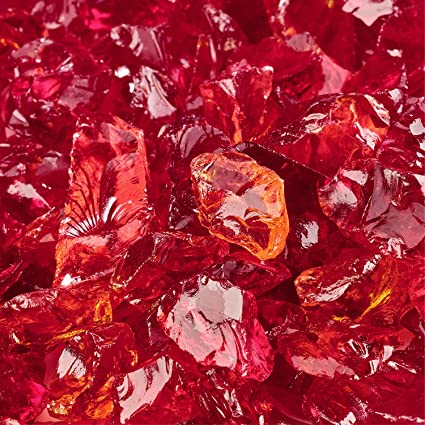 Molten Orange - Crushed Fire Glass for Indoor and Outdoor Fire Pits or  Fireplaces | 10 Pounds | 3/8 Inch - 1/2 Inch