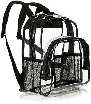 8880657e1c AmazonBasics Mini sac à dos conforme aux normes des stades, Transparent