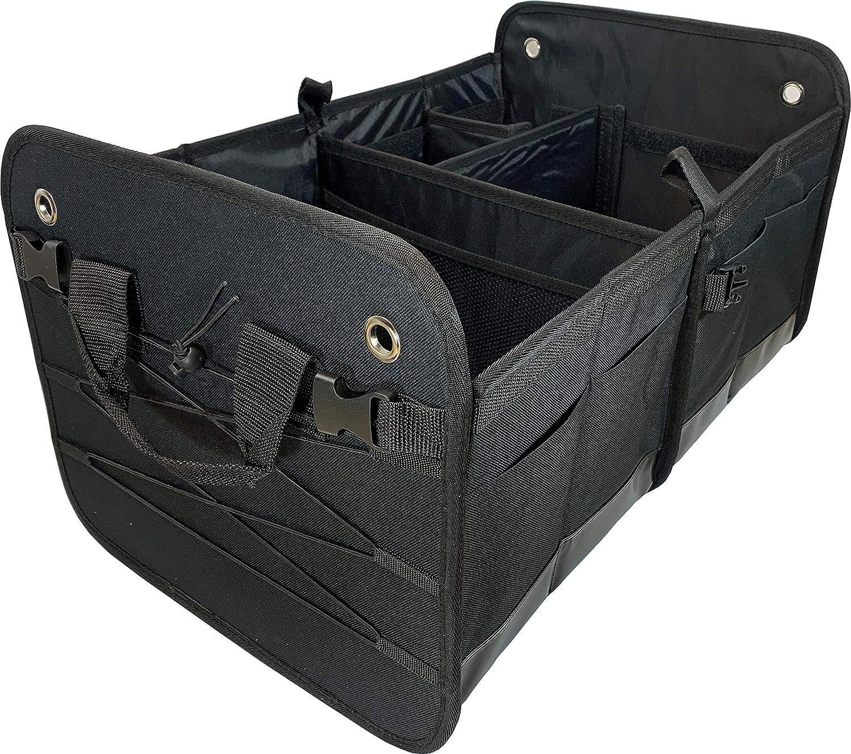 Black RV Rhodes Collapsible Portable Multi Compartments Trunk Organizer