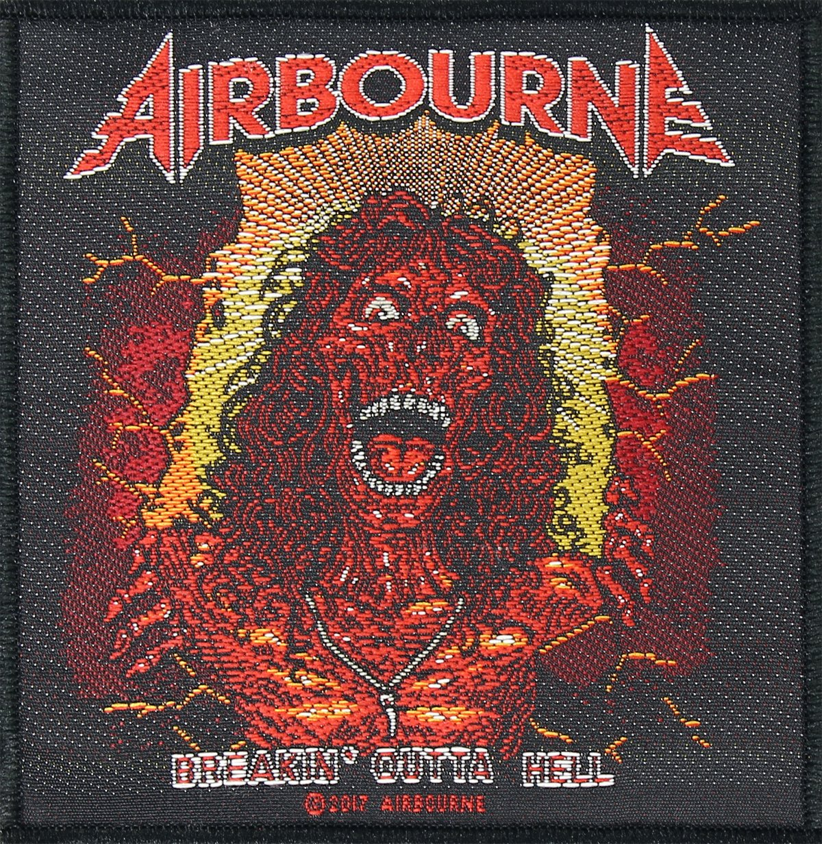 AIRBOURNE Aufn/äher BREAKIN/´ OUTA HELL Patch gewebt 10 x 10 cm
