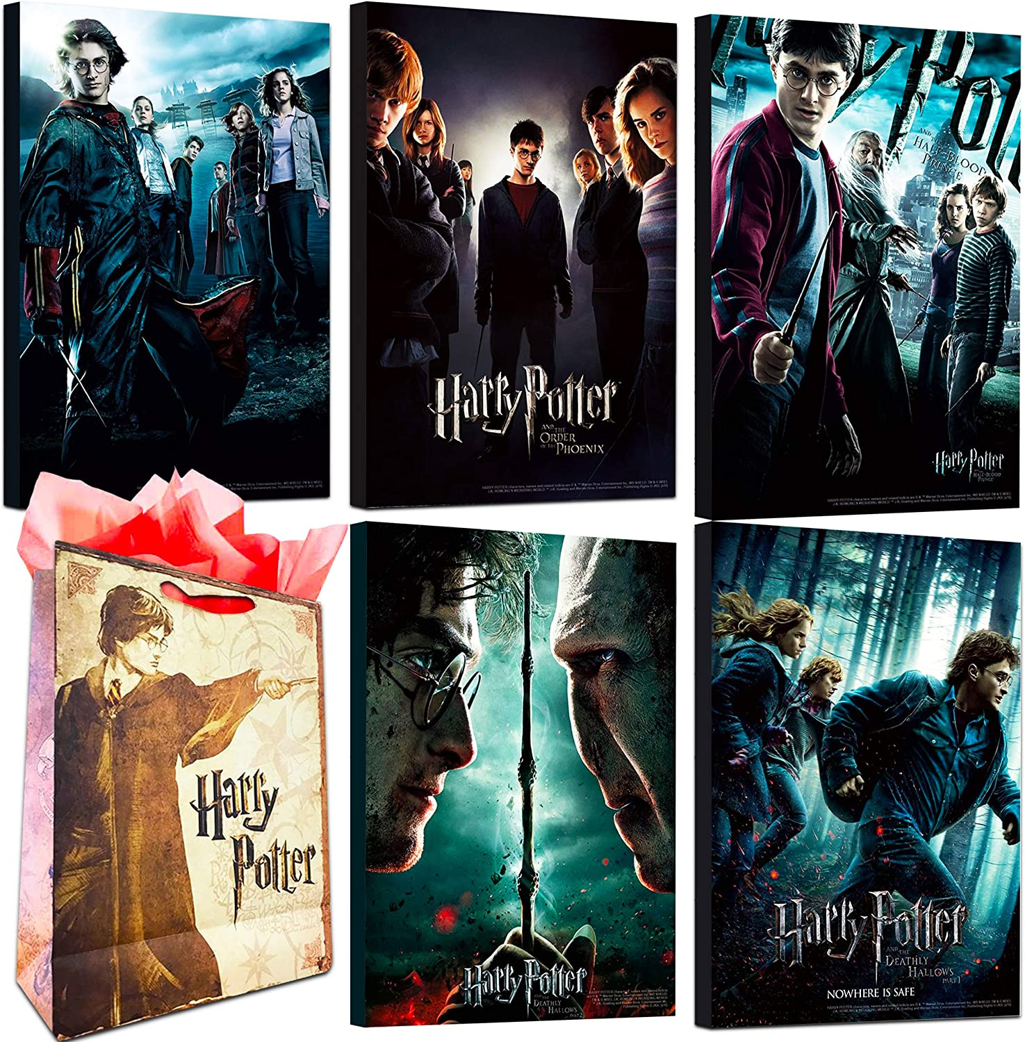 Harry Potter Poster Set ~ Bundle Includes 5 Deluxe Harry Potter Movies Mounted Prints (8