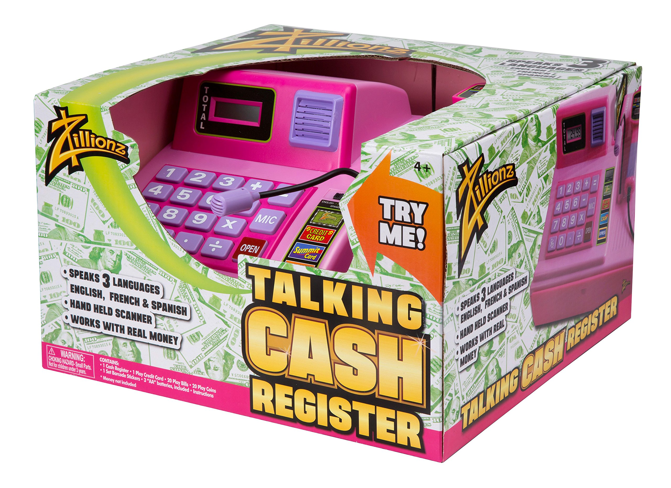 Zillionz Talking Cash Register - Pink