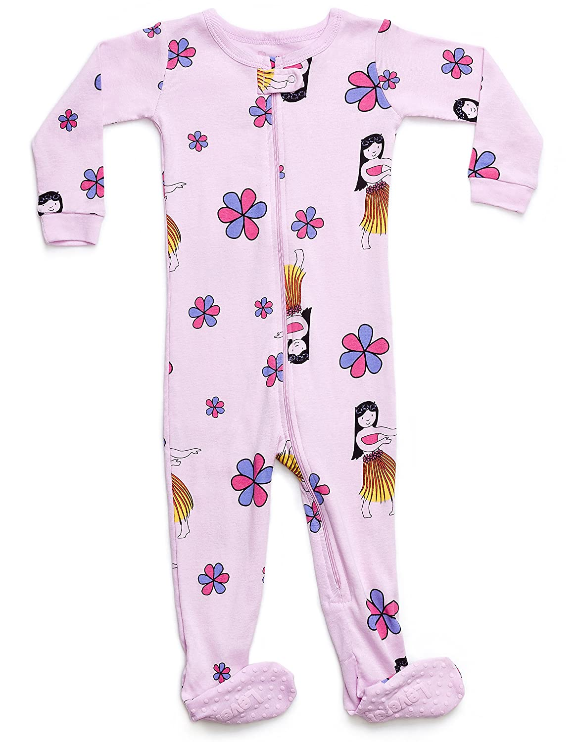 Leveret Baby Boys Girls Footed Pajamas Sleeper 100% Organic Cotton Kids & Toddler Pjs Sleepwear (6 Months-5 Toddler)