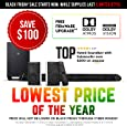 "Nakamichi Shockwafe Pro 7.1Ch DTS:X 600W 45-Inch Sound Bar with 8"" Wireless Subwoofer & 2-Way Rear Satellite Speakers"