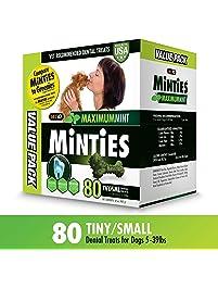 Vetiq Minties Dog Dental Bone Treats, Dental Treats for Dogs, Tiny / Small