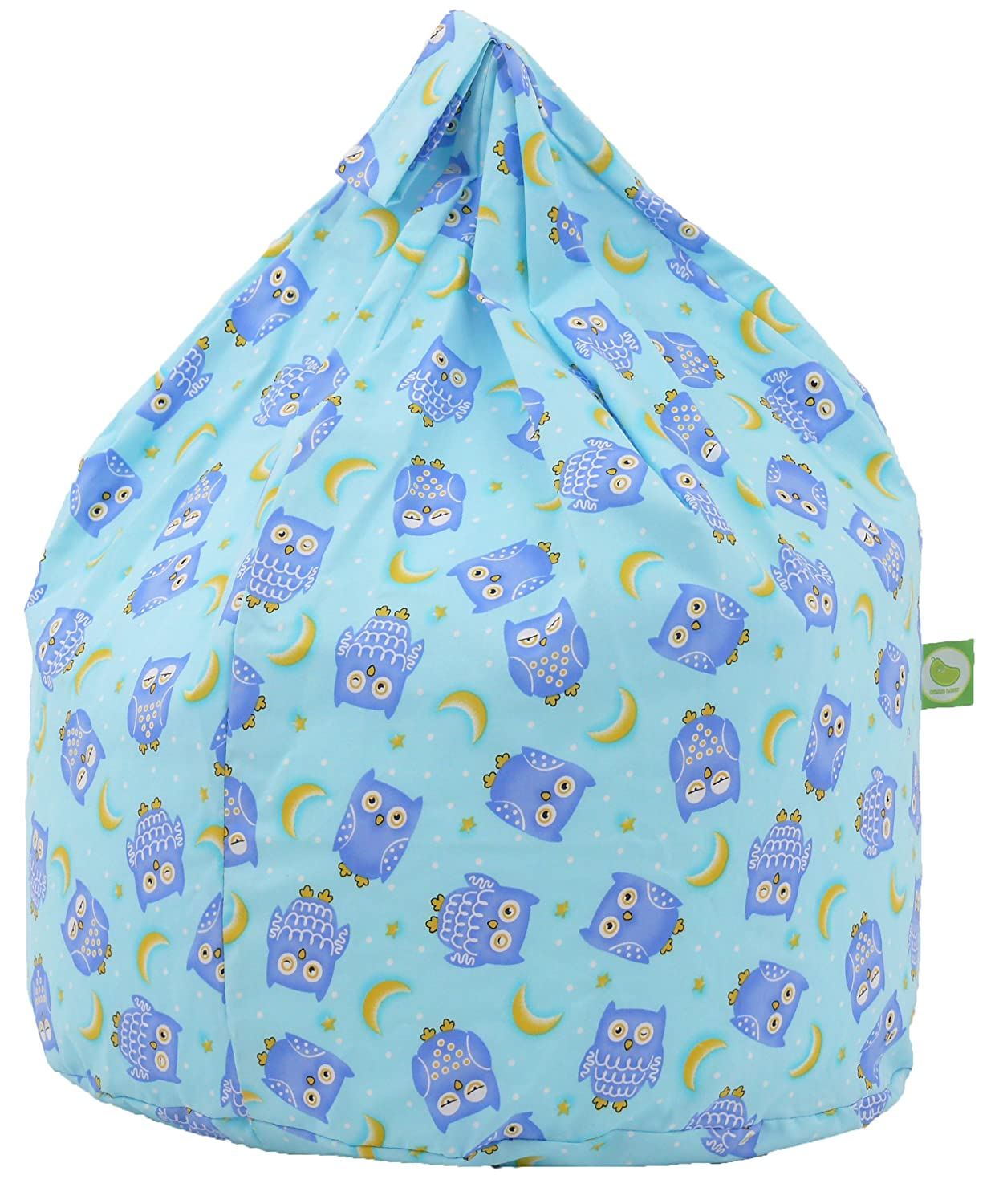 Blue Owl Bean Bag With Beans Large Size By Bean Lazy