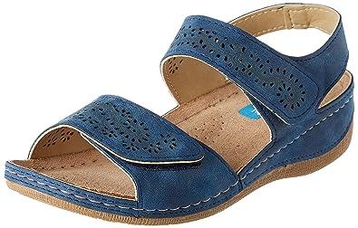 autumn shoes promo code top fashion Damart Women's Sandales Piedical Femme Open Toe, Blue ...
