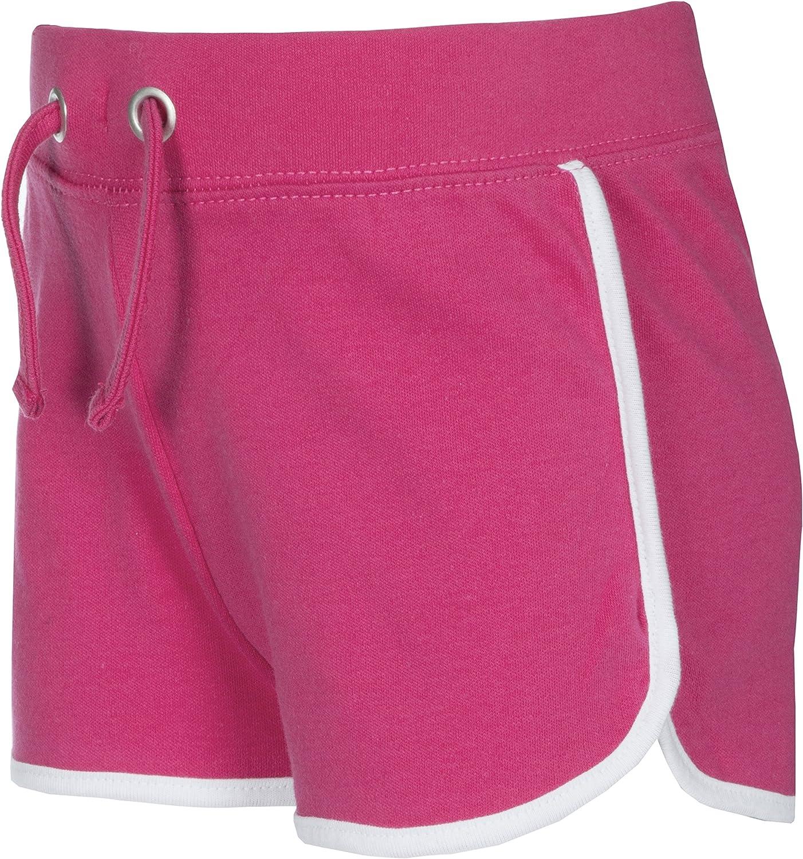Red Melon Girls Retro Stripe Cotton Summer Shorts