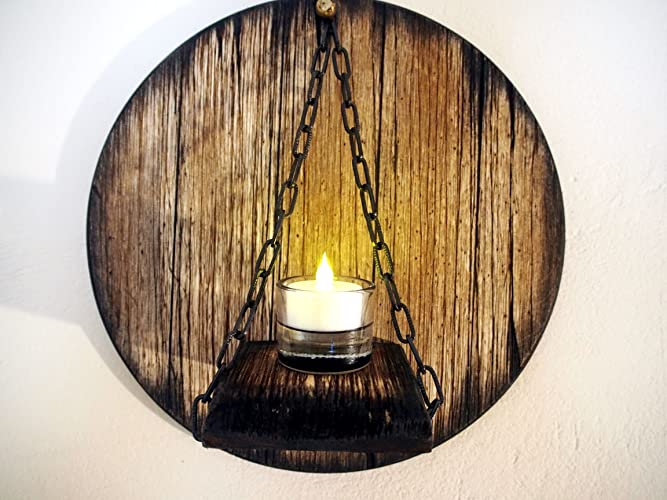 Amazon.com: Custom Candle Sconce inspired by aged wine and whiskey ...