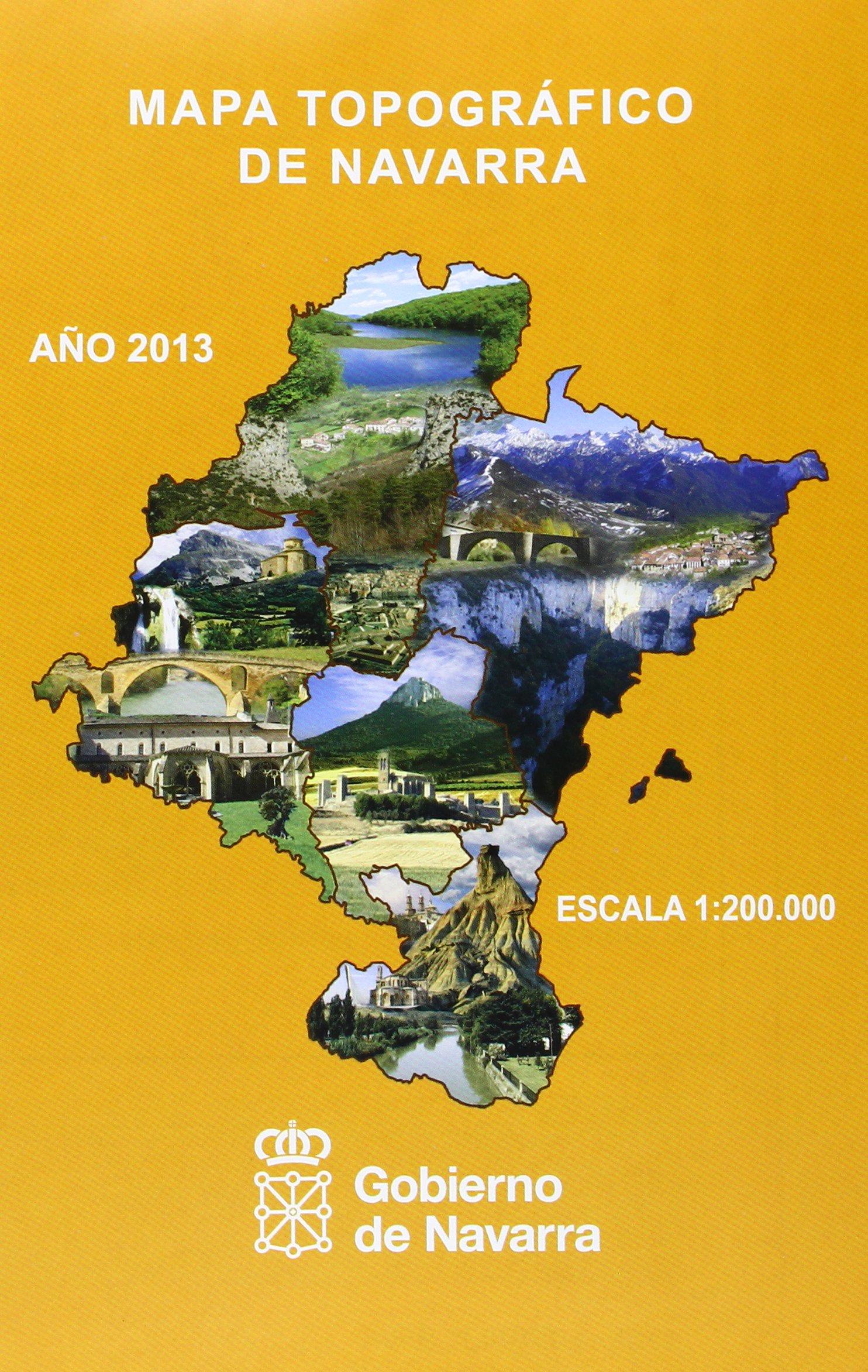 Mapa topográfico de Navarra, E 1:200.000: Amazon.es: Dirección ...