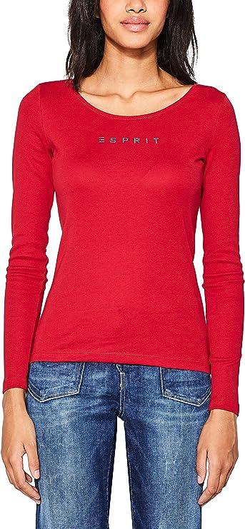Esprit 087ee1k064 T-Shirt À Manches Longues,