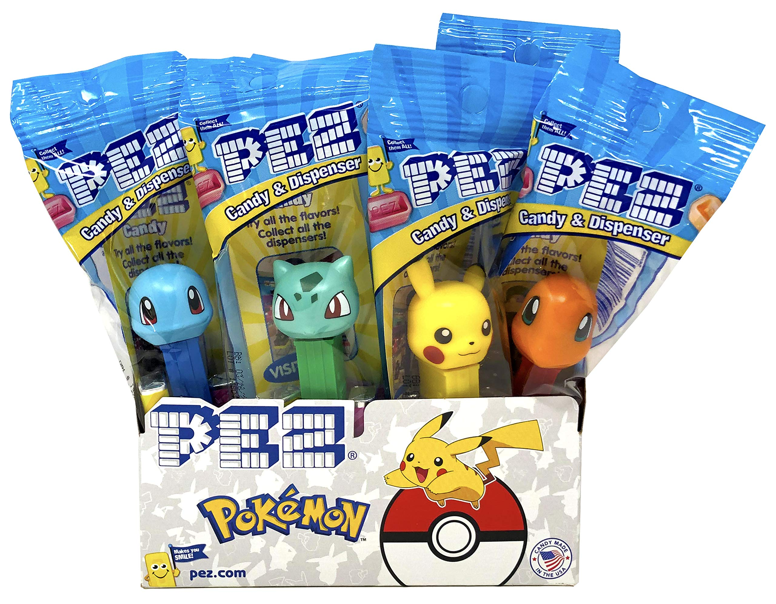 Pez Pokemon Dispensers Individually Wrapped Candy and Dispensers with Tru Inertia Kazoo (12 Pack) by Tru Inertia