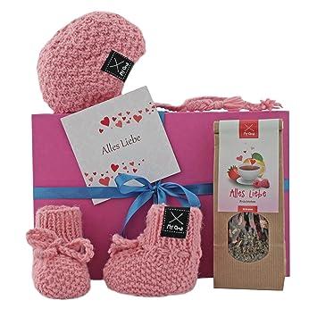 Geschenkset Baby Baby Geschenkset Babymutze Und Babysockchen Rosa